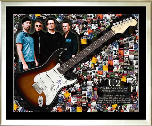 U2 signed Fender electric guitar